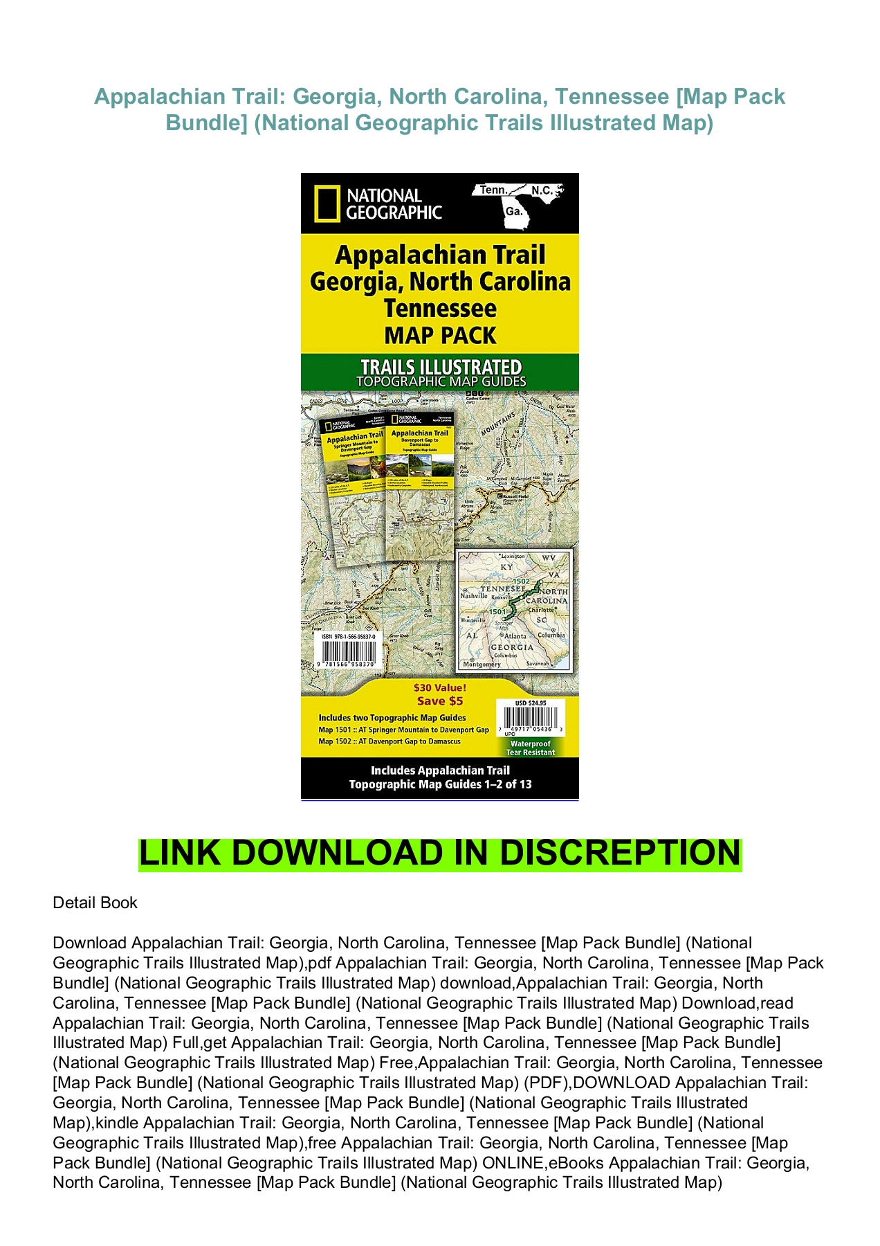 Appalachian Trail Map North Carolina Pdf