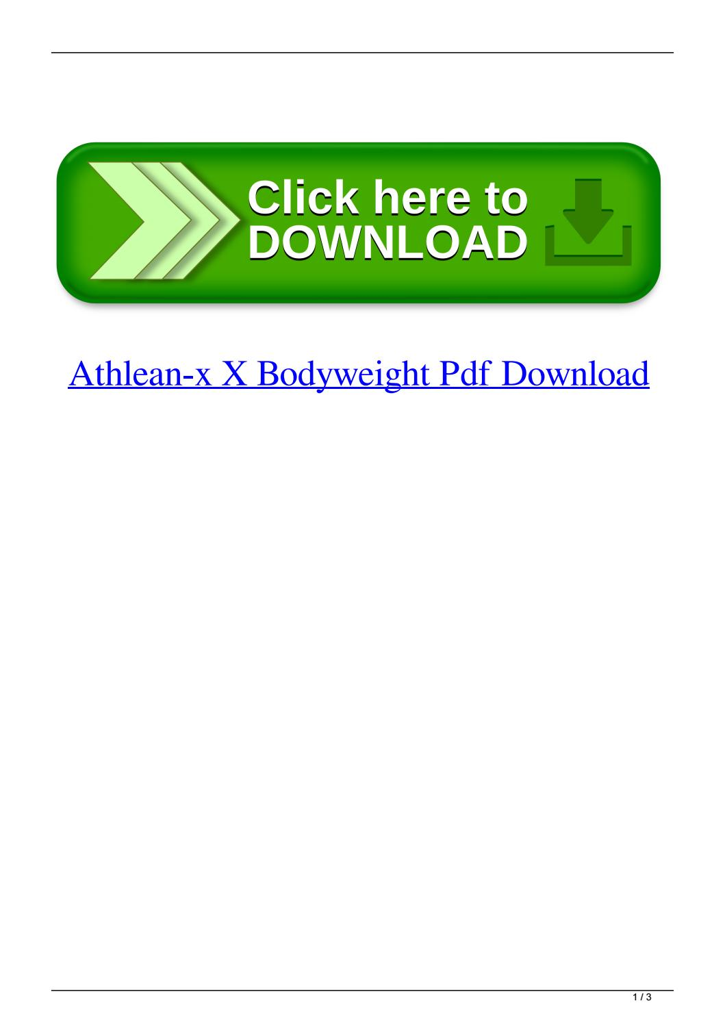 Athlean X Pdf Download