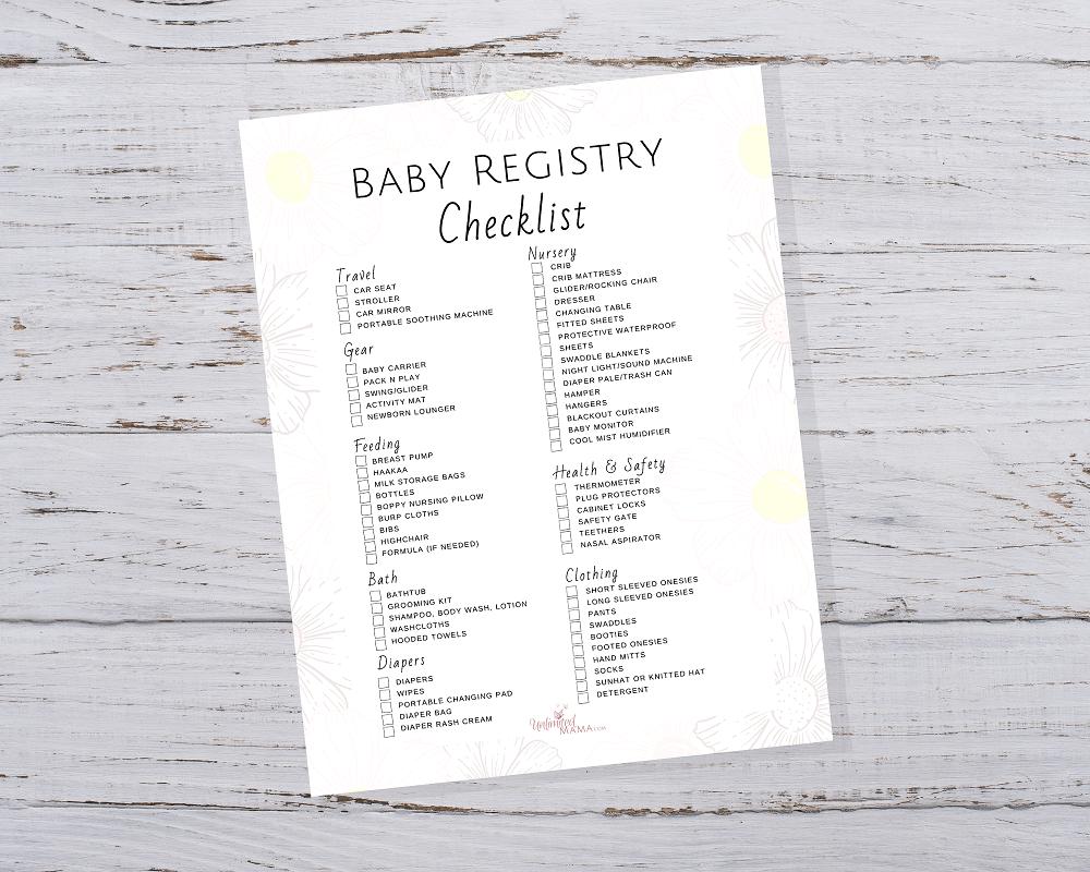 Baby Registry Checklist Pdf