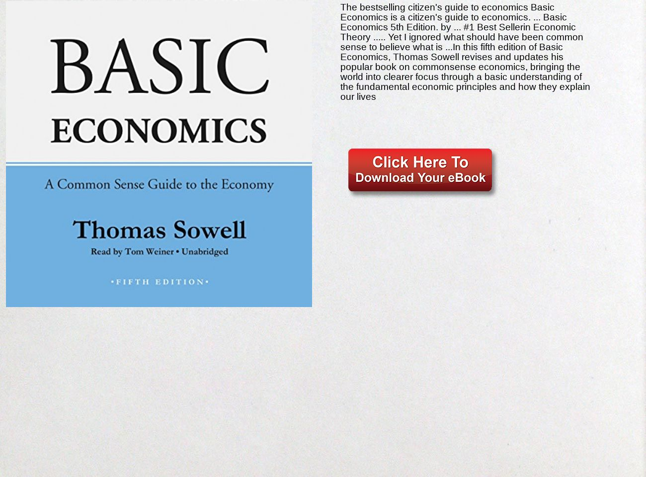 Basic Economics Thomas Sowell Pdf Download