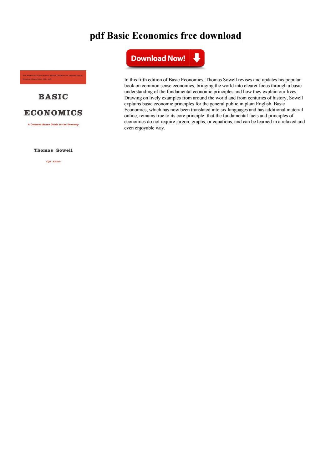 Basic Economics Thomas Sowell Pdf Free Download