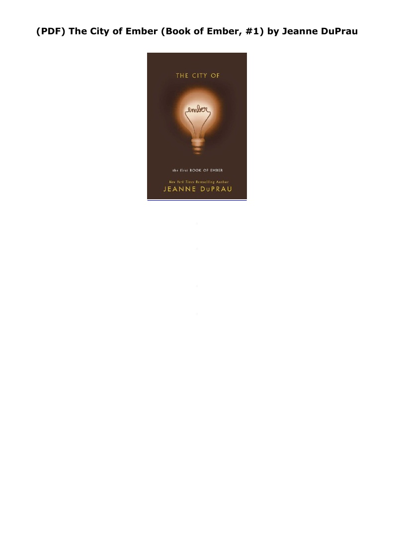 City Of Ember Pdf Book