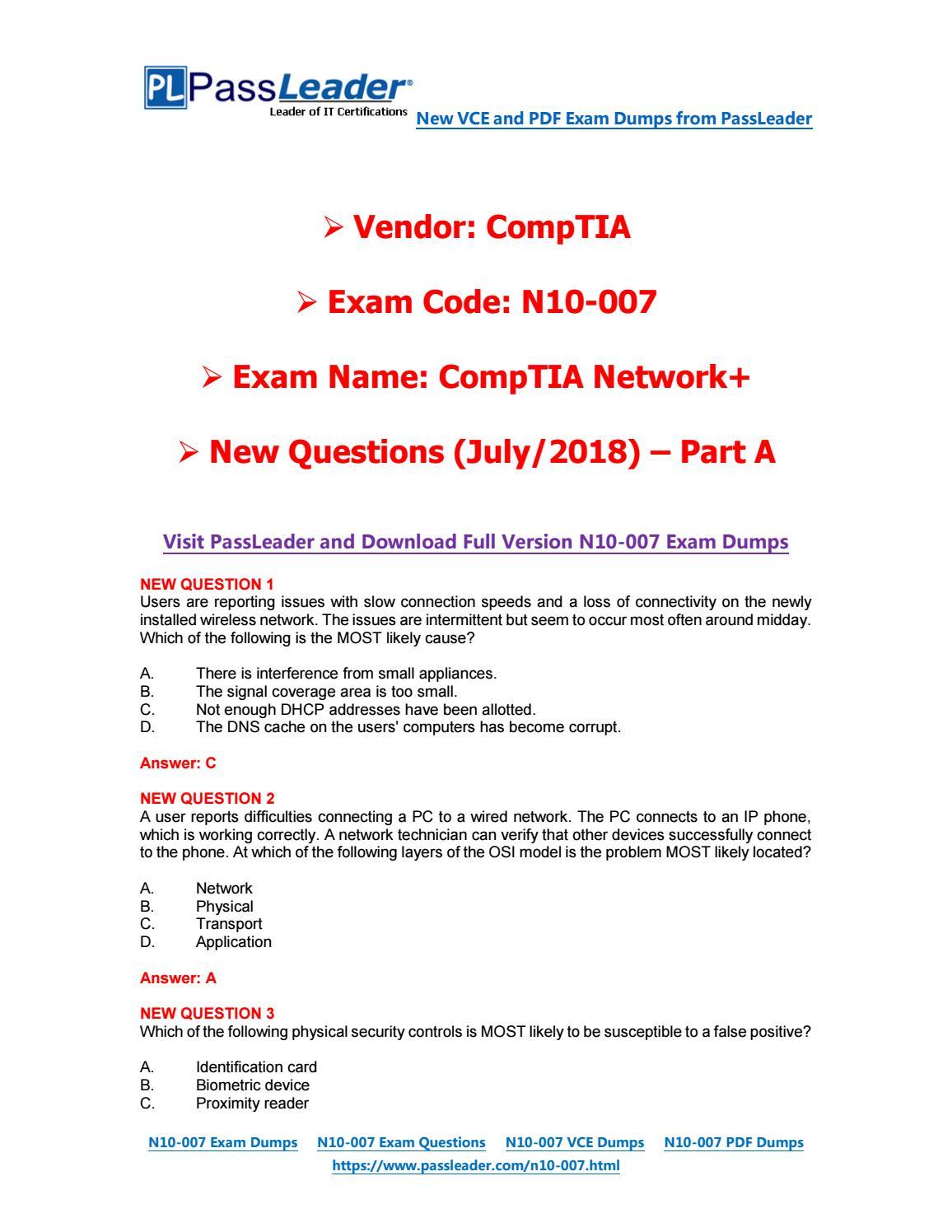 Comptia Network N10 007 Pdf