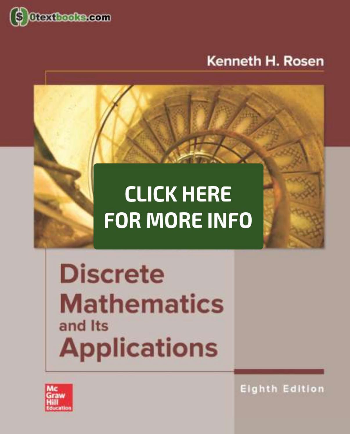 Discrete Mathematics And Its Applications 8th Edition Pdf