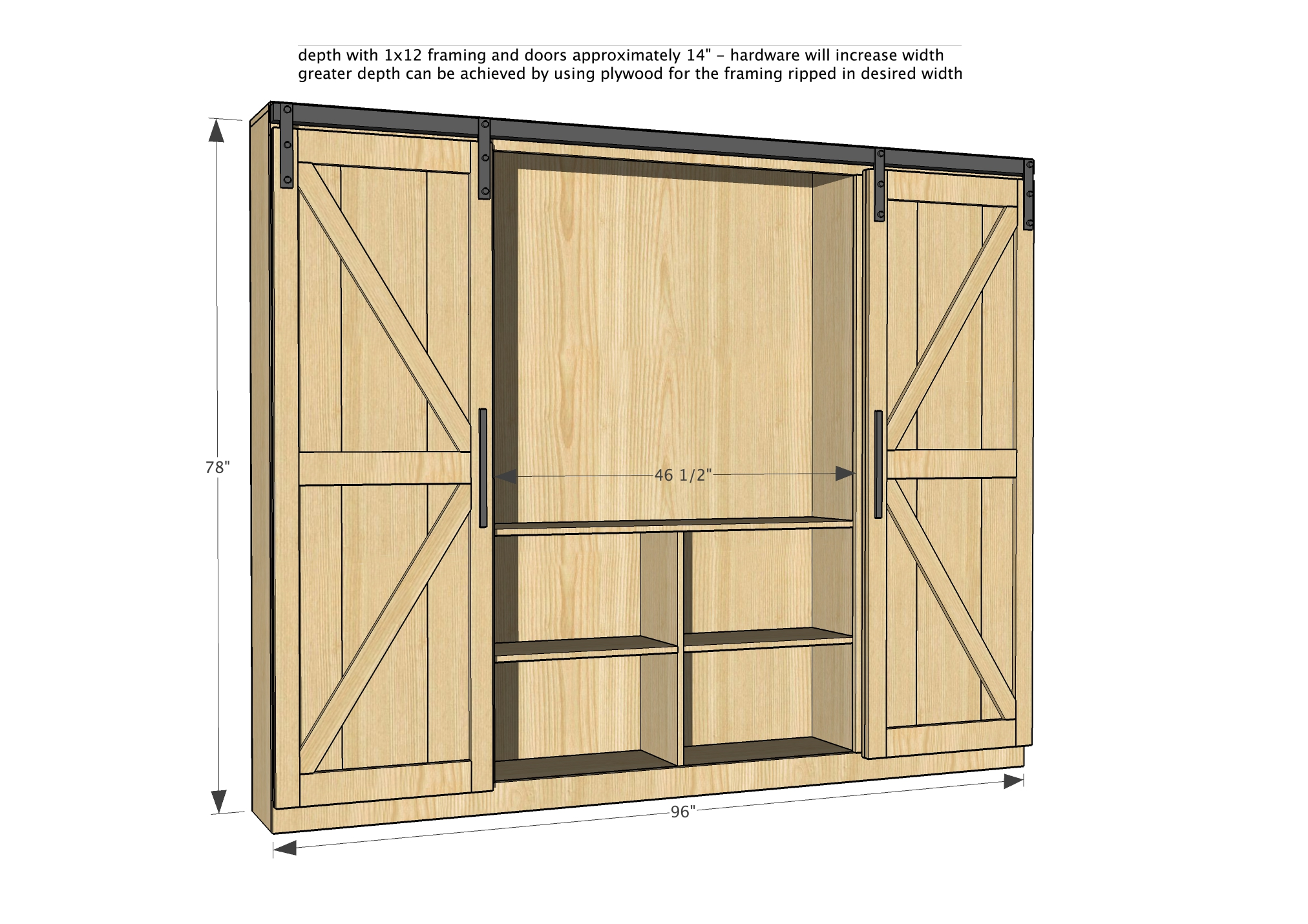 Diy Barn Door Plans Pdf