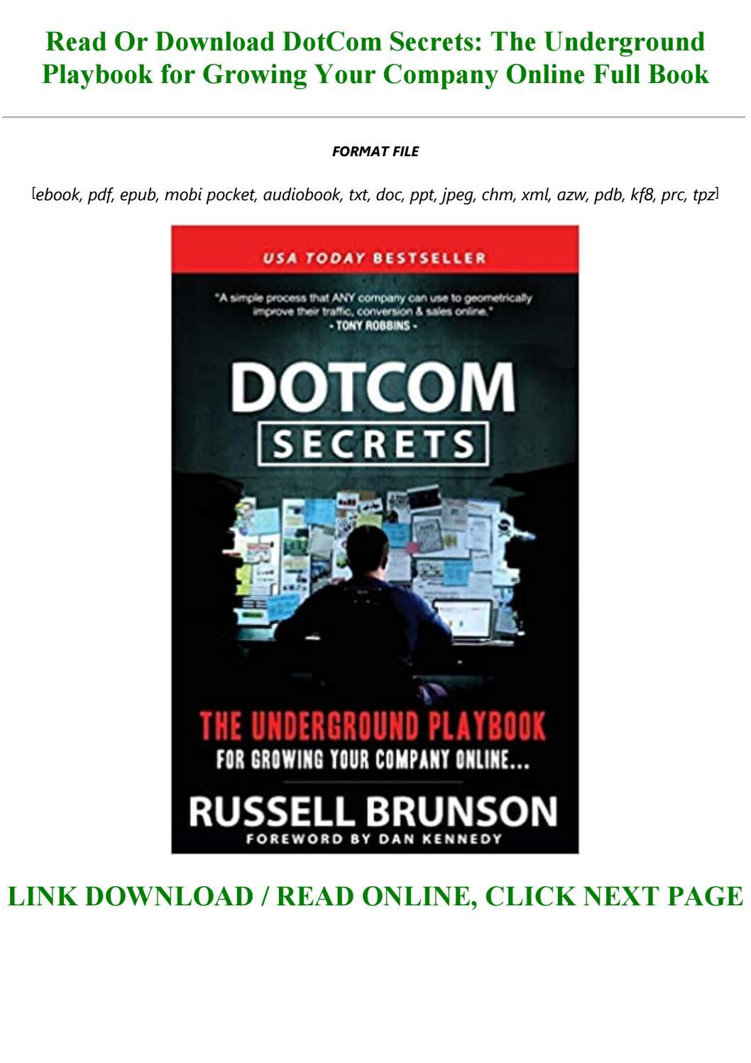 Dotcom Secrets Pdf