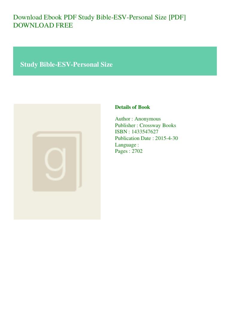 Esv Bible Pdf