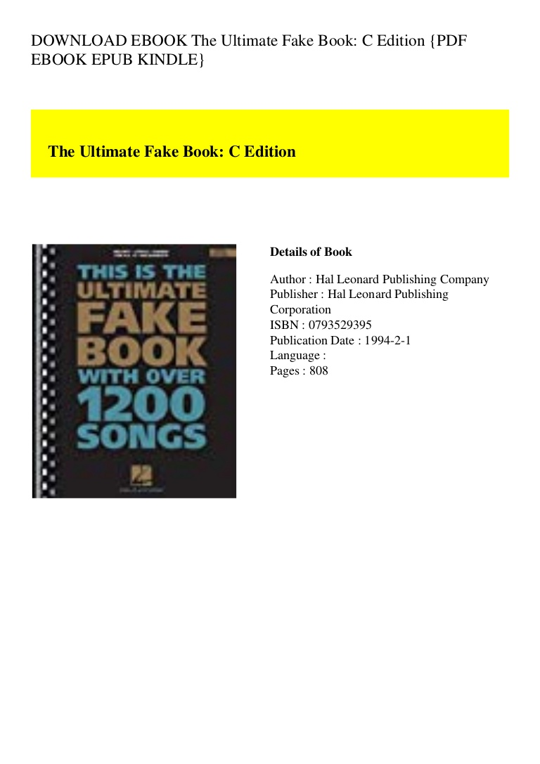 Fake Book Pdf Download