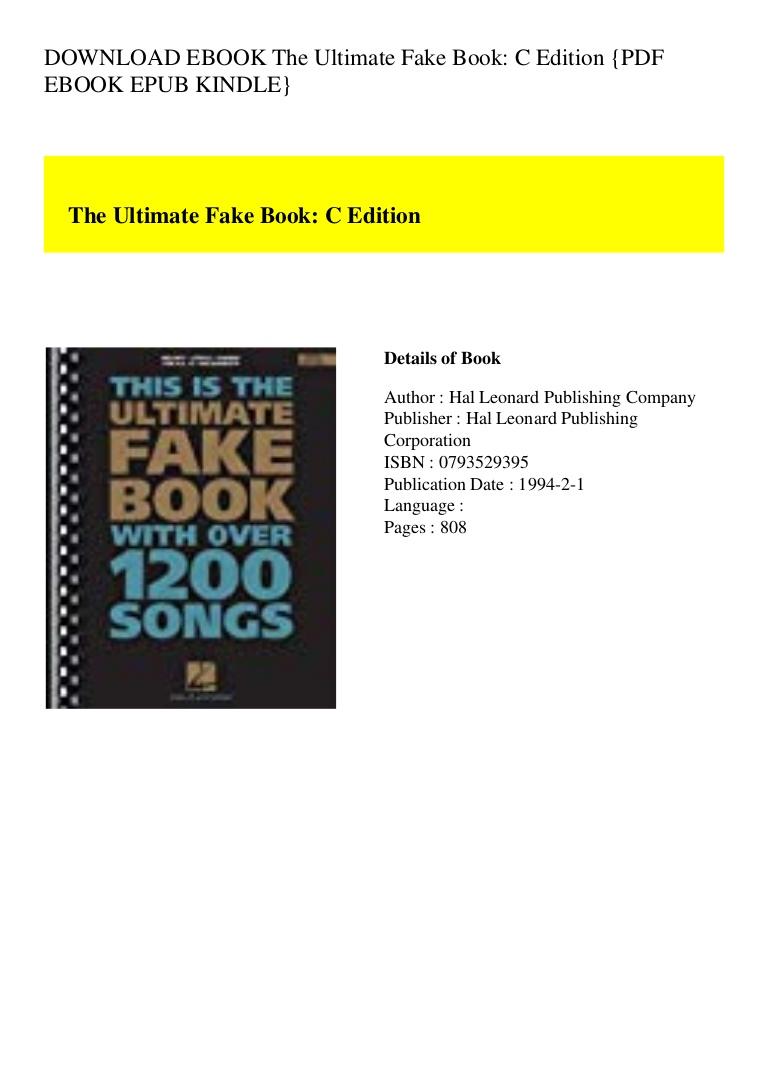 Fake Book Pdf Download