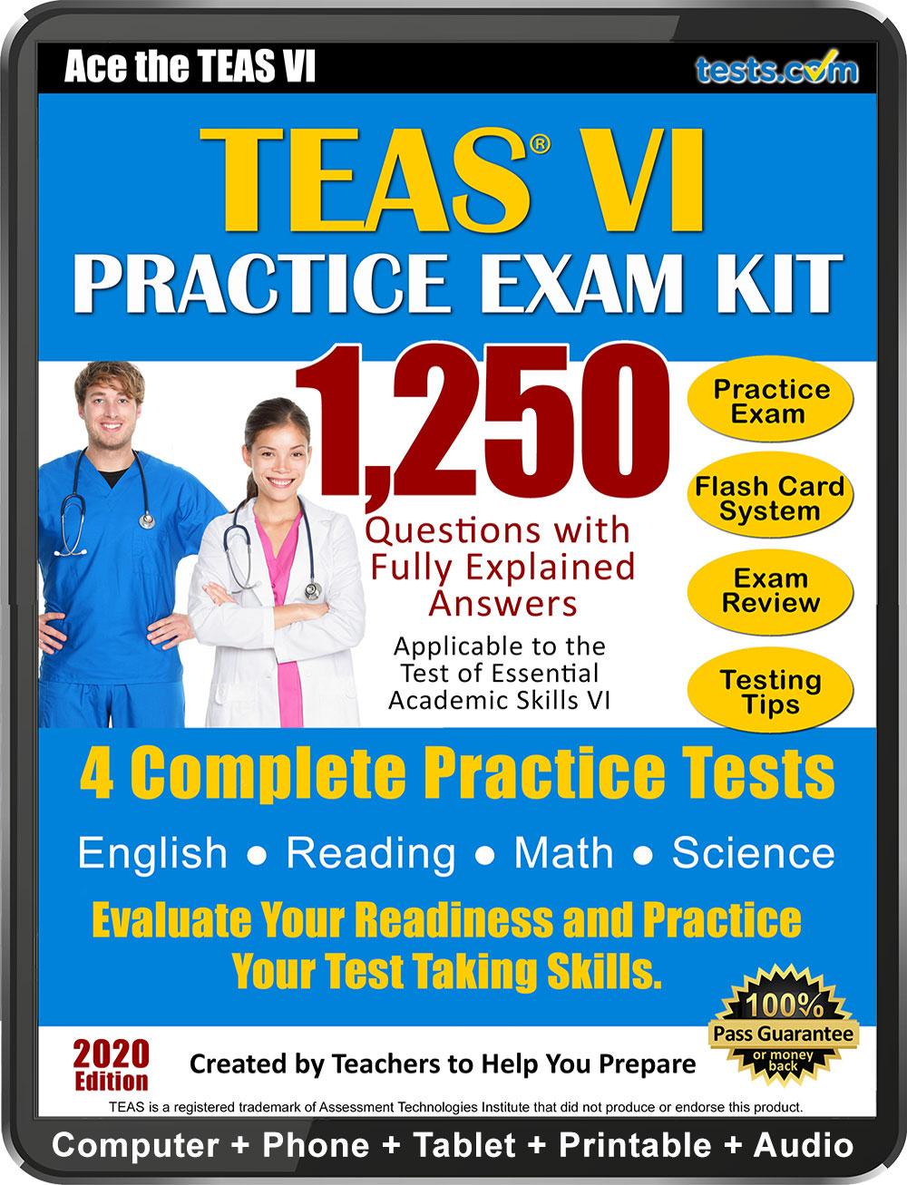 Free Printable Teas Practice Test Pdf 2020