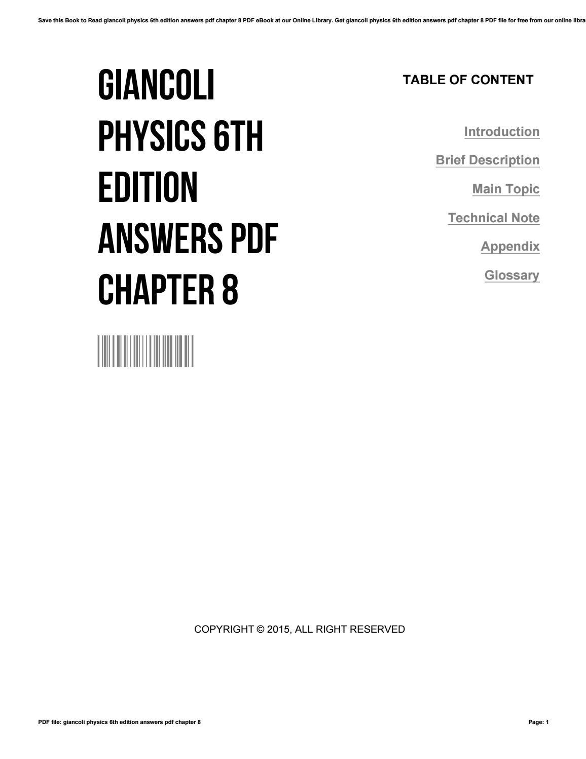 Giancoli Physics 6th Edition Pdf Answers