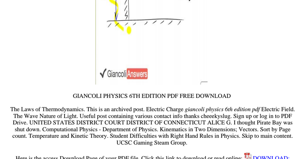 Giancoli Physics 6th Edition Pdf Free Download