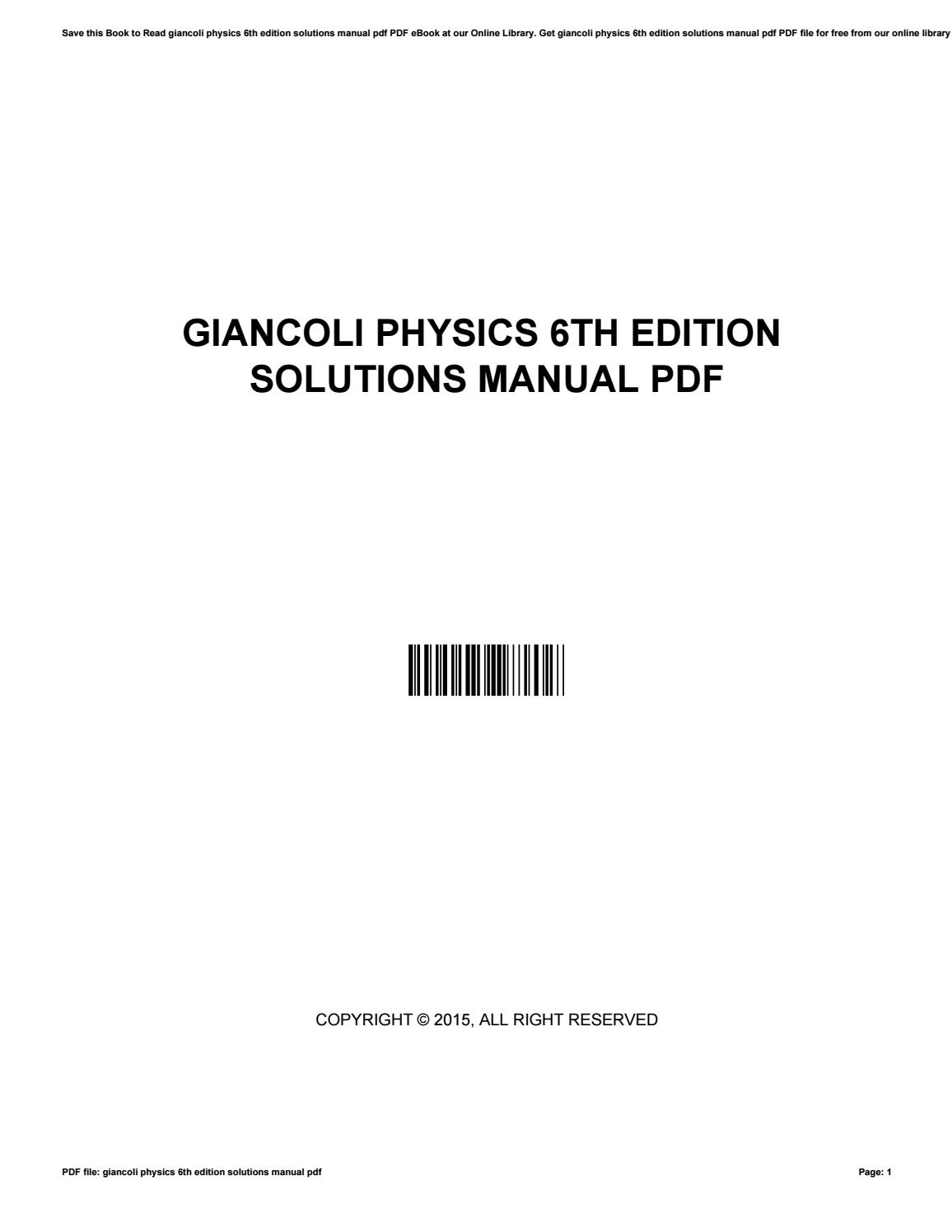 Giancoli Physics 6th Edition Pdf