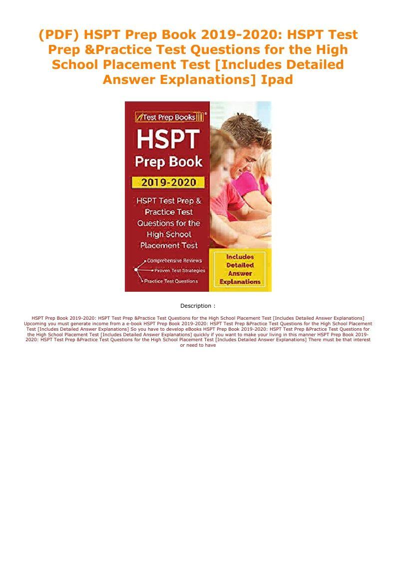 Hspt Practice Test Pdf 2019
