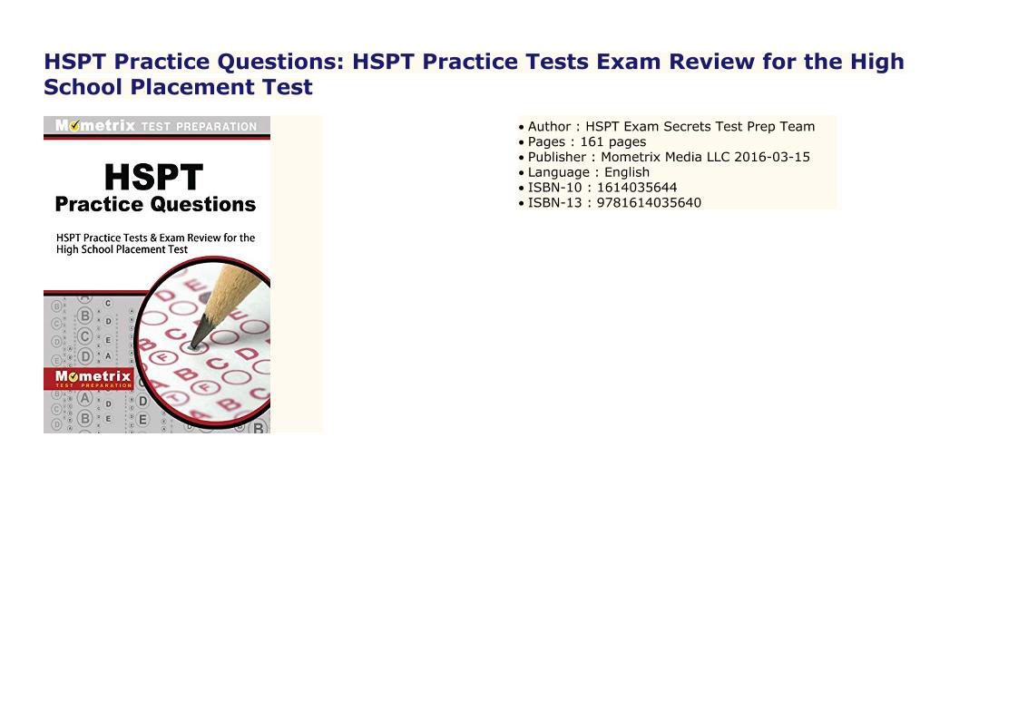 Hspt Practice Test Pdf Printable