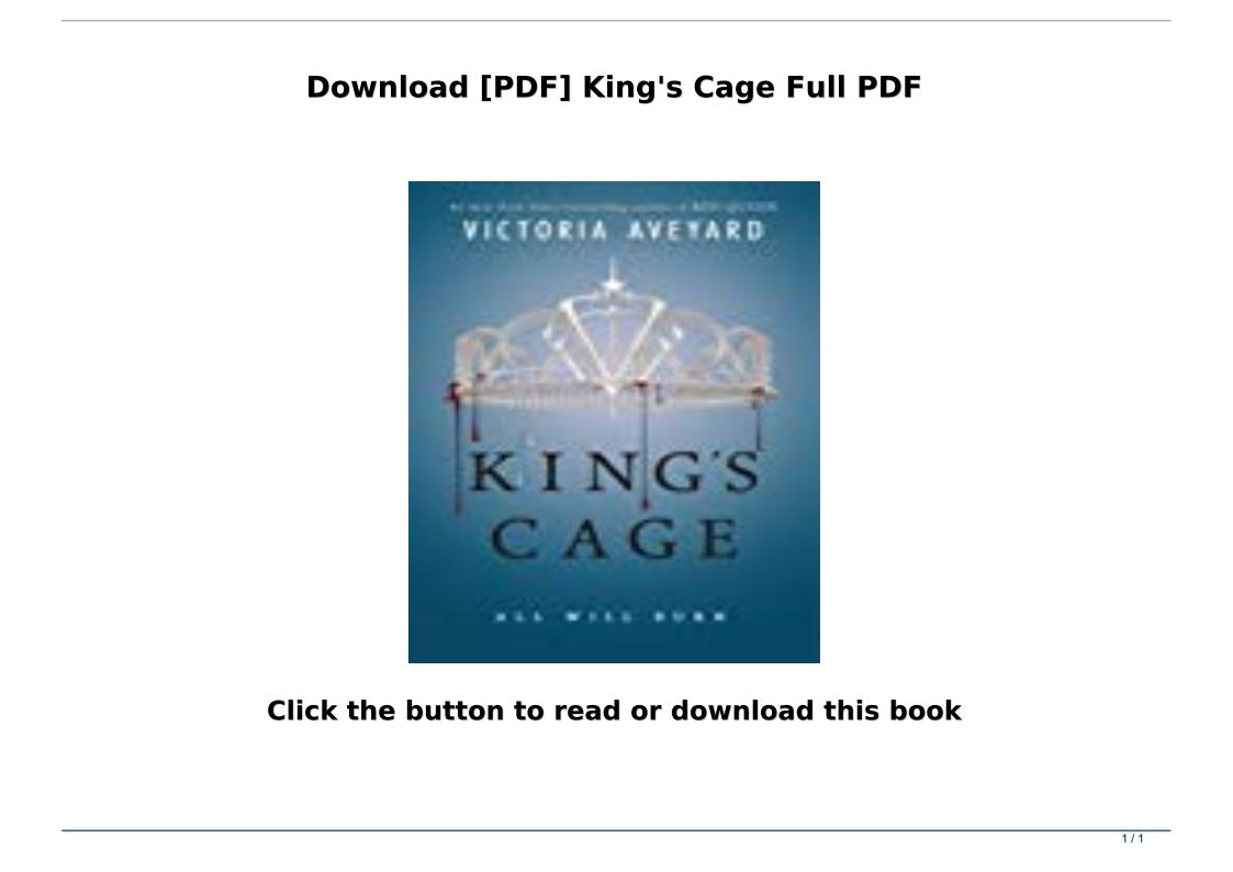 King's Cage Pdf