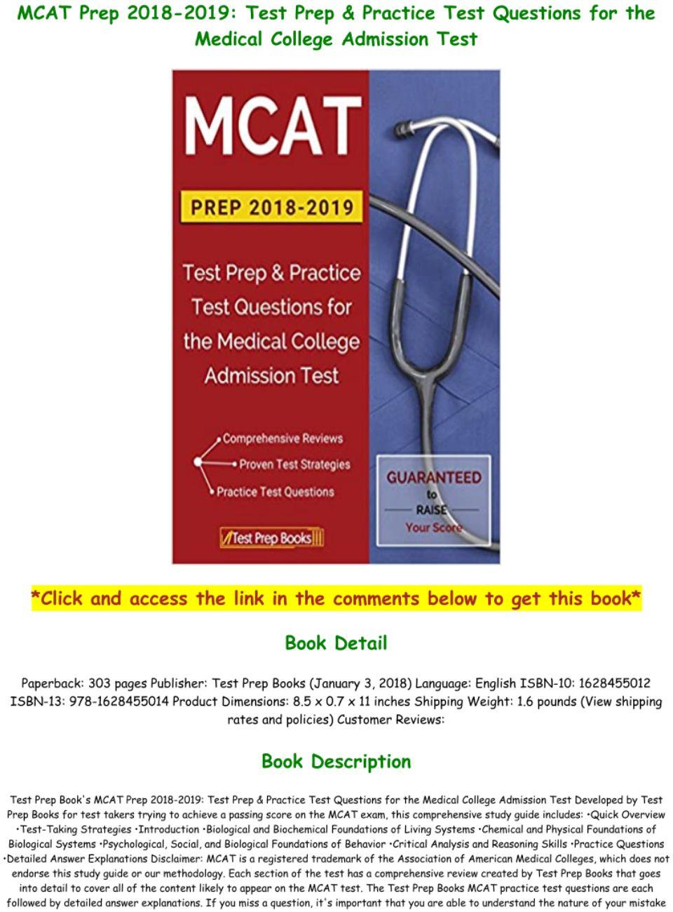 Mcat Practice Test Pdf 2019