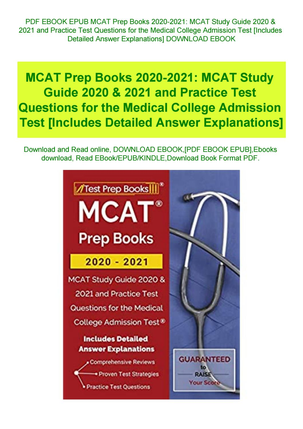 Mcat Practice Test Pdf With Answers