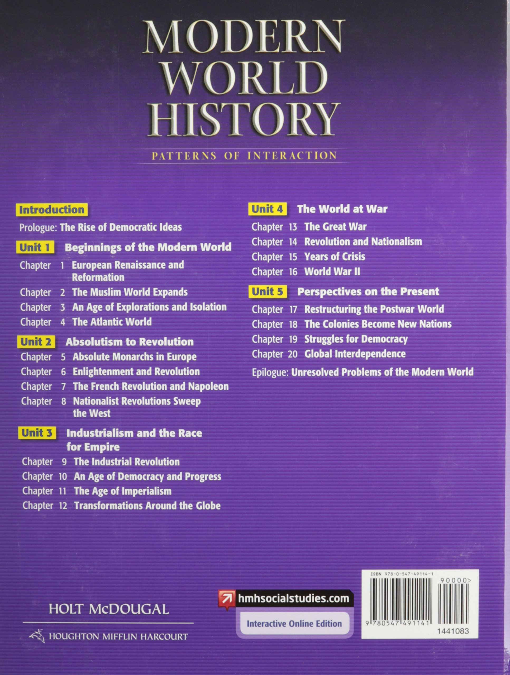 Modern World History Textbook Holt Mcdougal Pdf