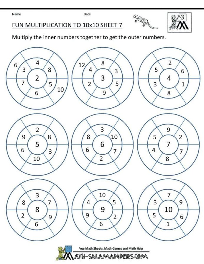 Multiplication 8th Grade Math Worksheets Pdf