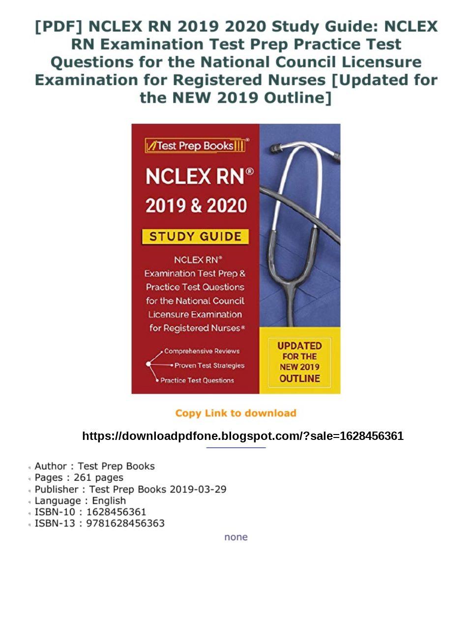 Nclex Study Guide Pdf 2019