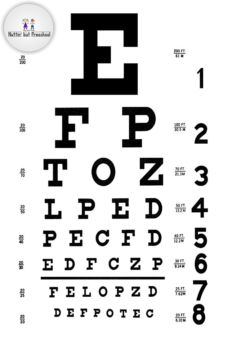 Pdf Snellen Eye Chart Printable