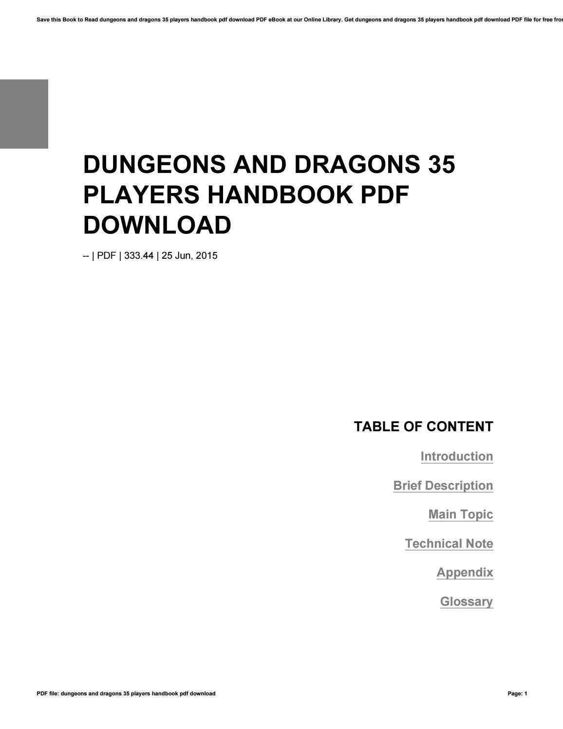 Players Handbook 35 Pdf