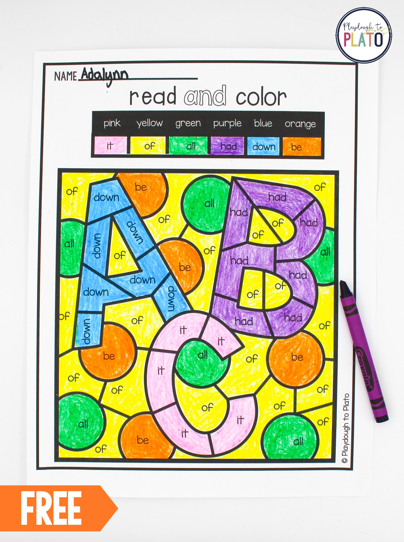 Pre Primer Dolch Sight Words Pdf