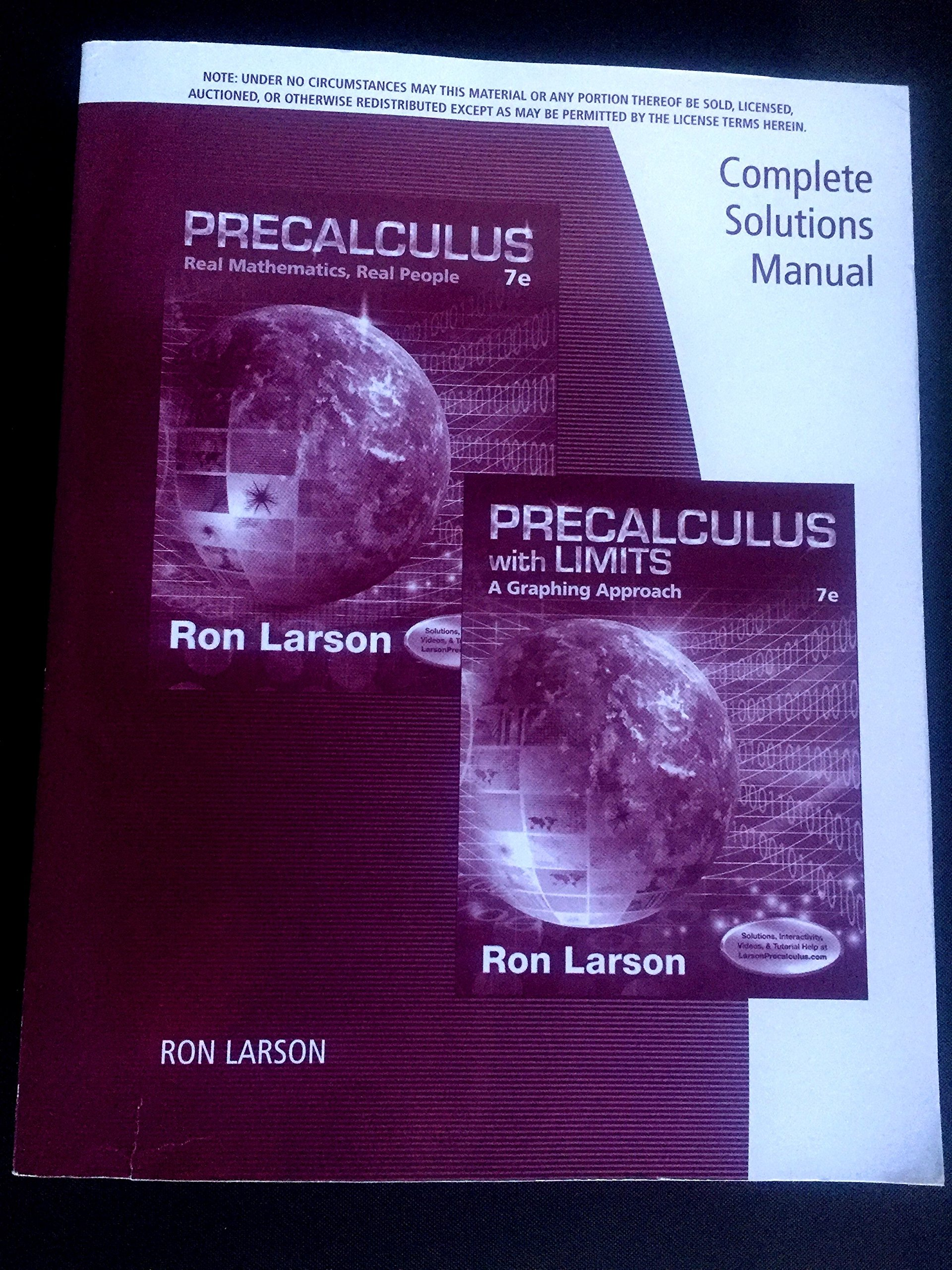 Precalculus With Limits Ron Larson Pdf