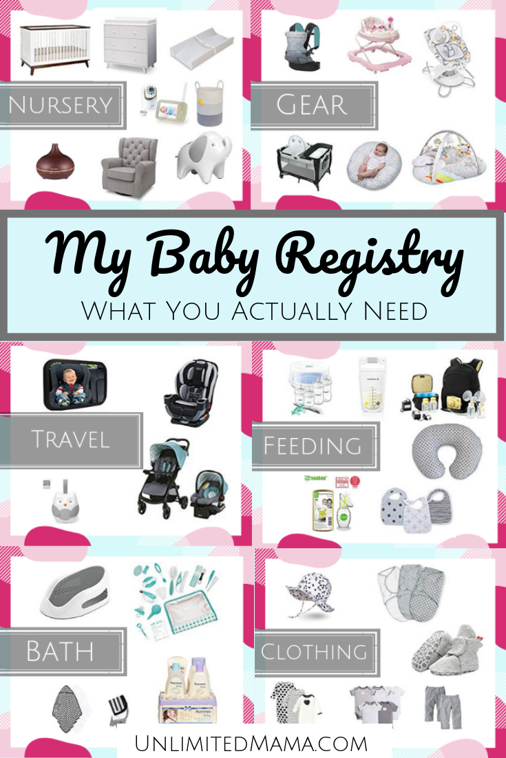 Printable Baby Registry Checklist Pdf