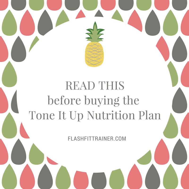 Printable Tone It Up Nutrition Plan Pdf