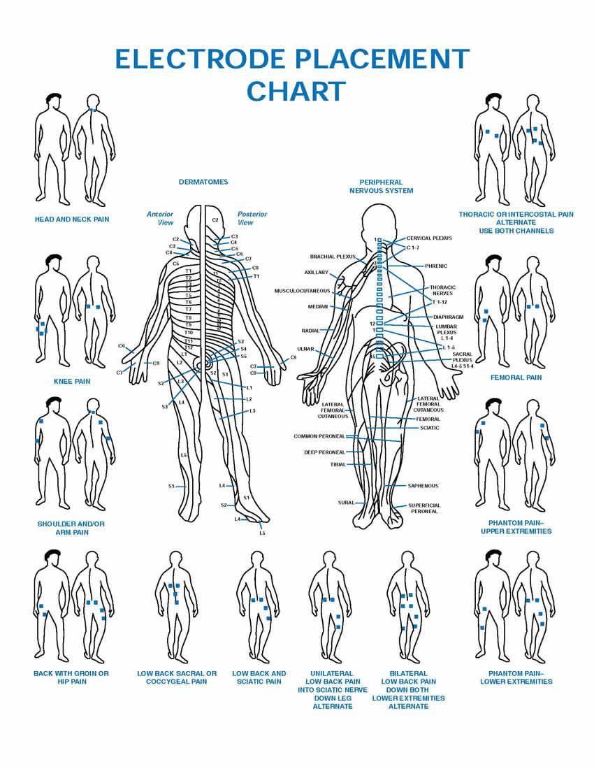 Shoulder Tens Electrode Placement Chart Pdf