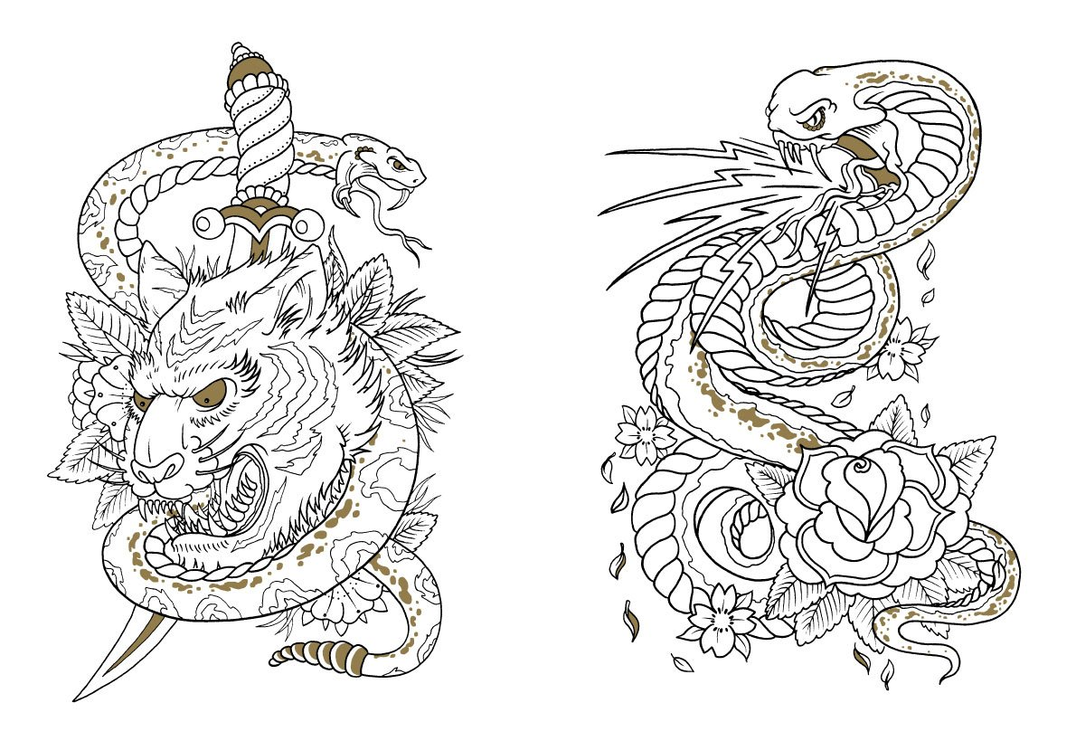Tattoo Coloring Book For Adults Pdf