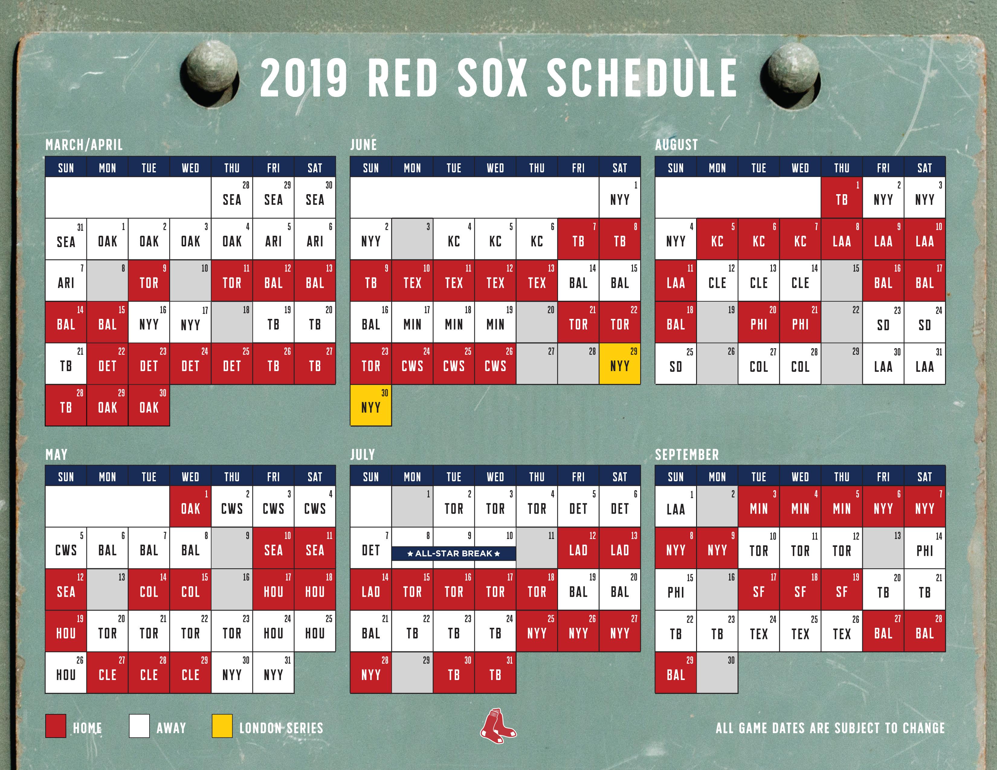 Texas Rangers Schedule 2018 Pdf