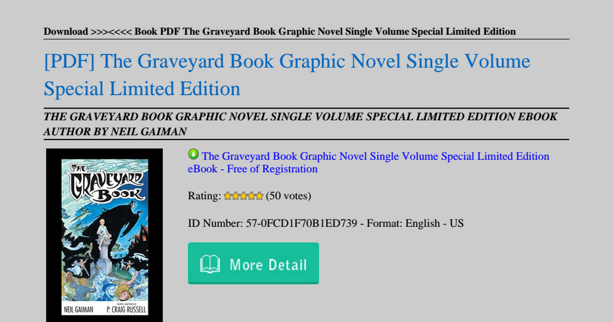The Graveyard Book Pdf