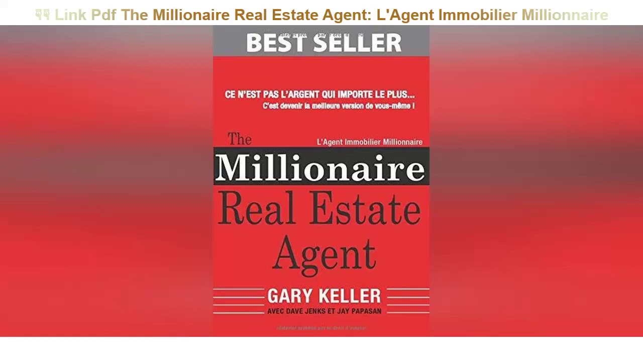 The Millionaire Real Estate Agent Pdf Free