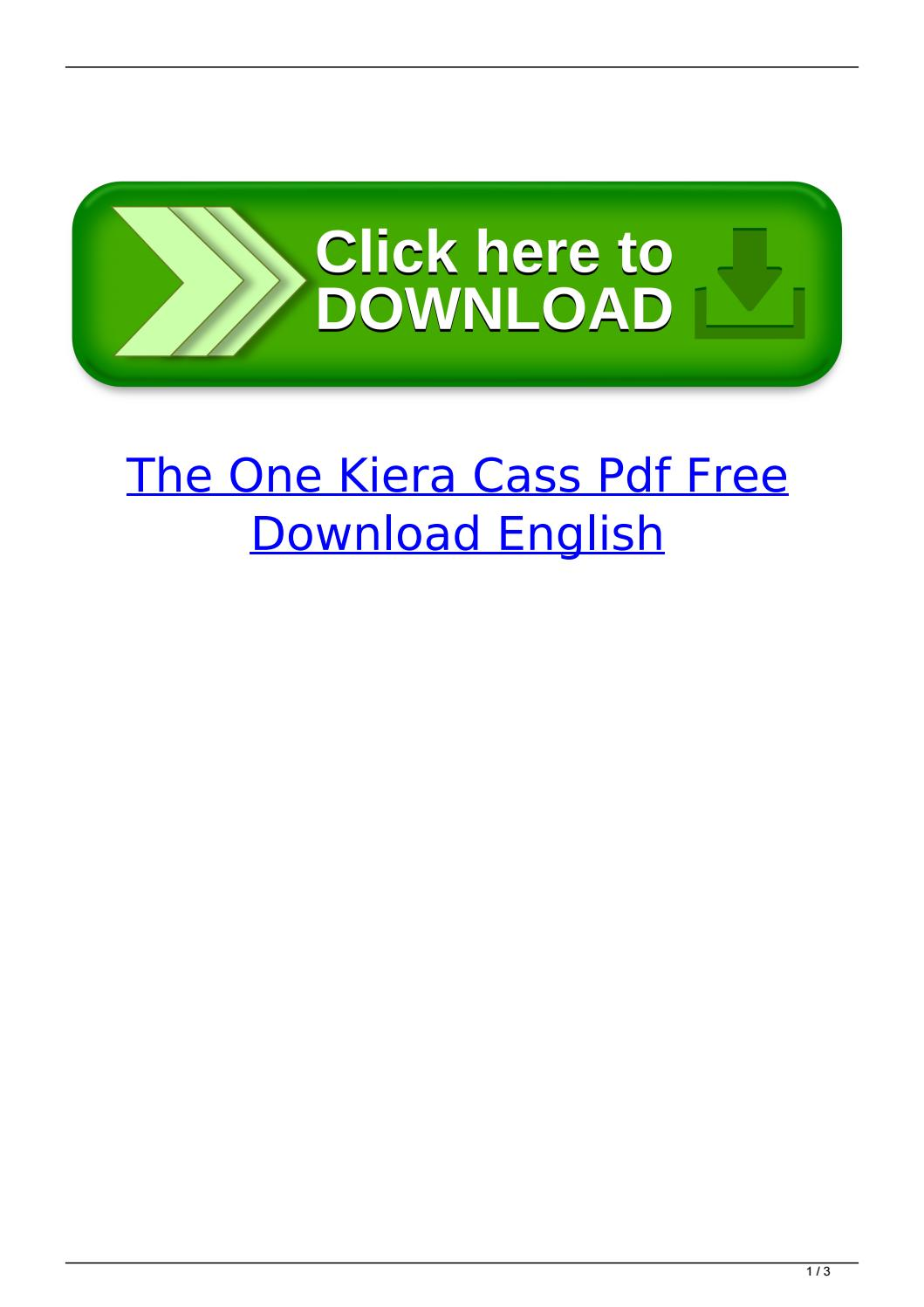 The One Kiera Cass Pdf Free Download