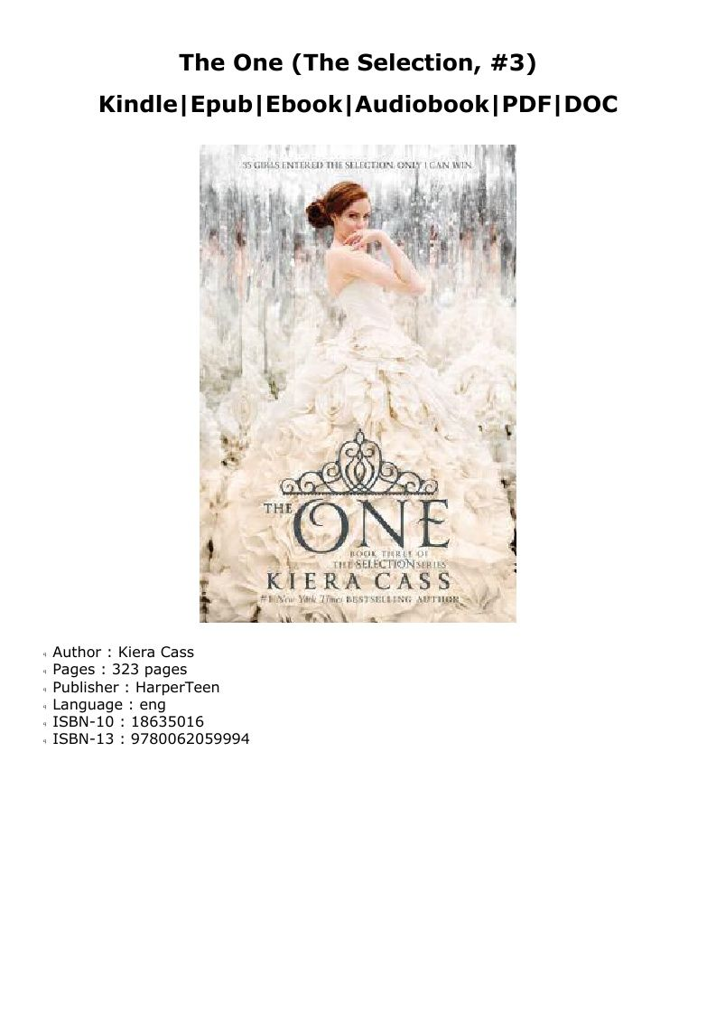The One Kiera Cass Pdf