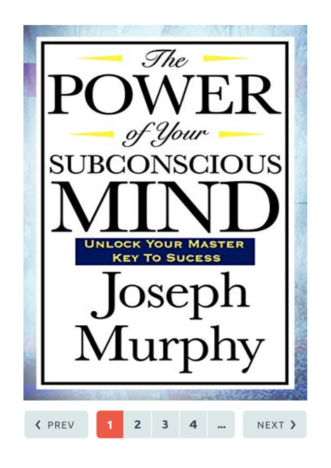The Power Of Your Subconscious Mind Pdf Joseph Murphy