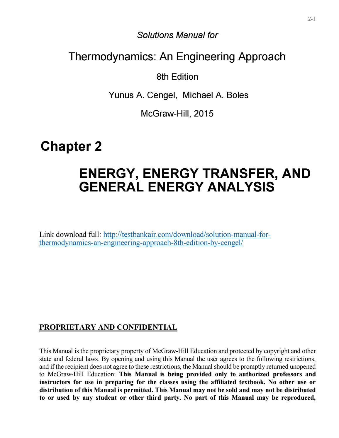 Thermodynamics An Engineering Approach 8th Edition Pdf Free Download