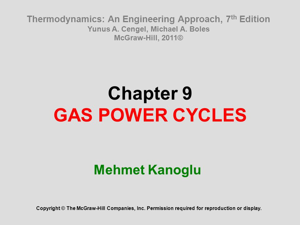 Thermodynamics An Engineering Approach 8th Edition Pdf Slideshare