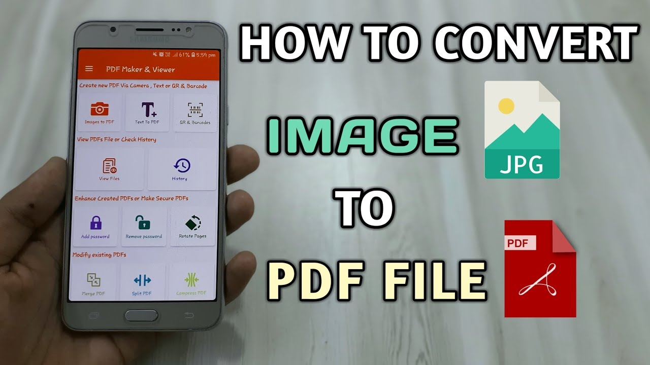 Turn Photo Into Pdf On Phone