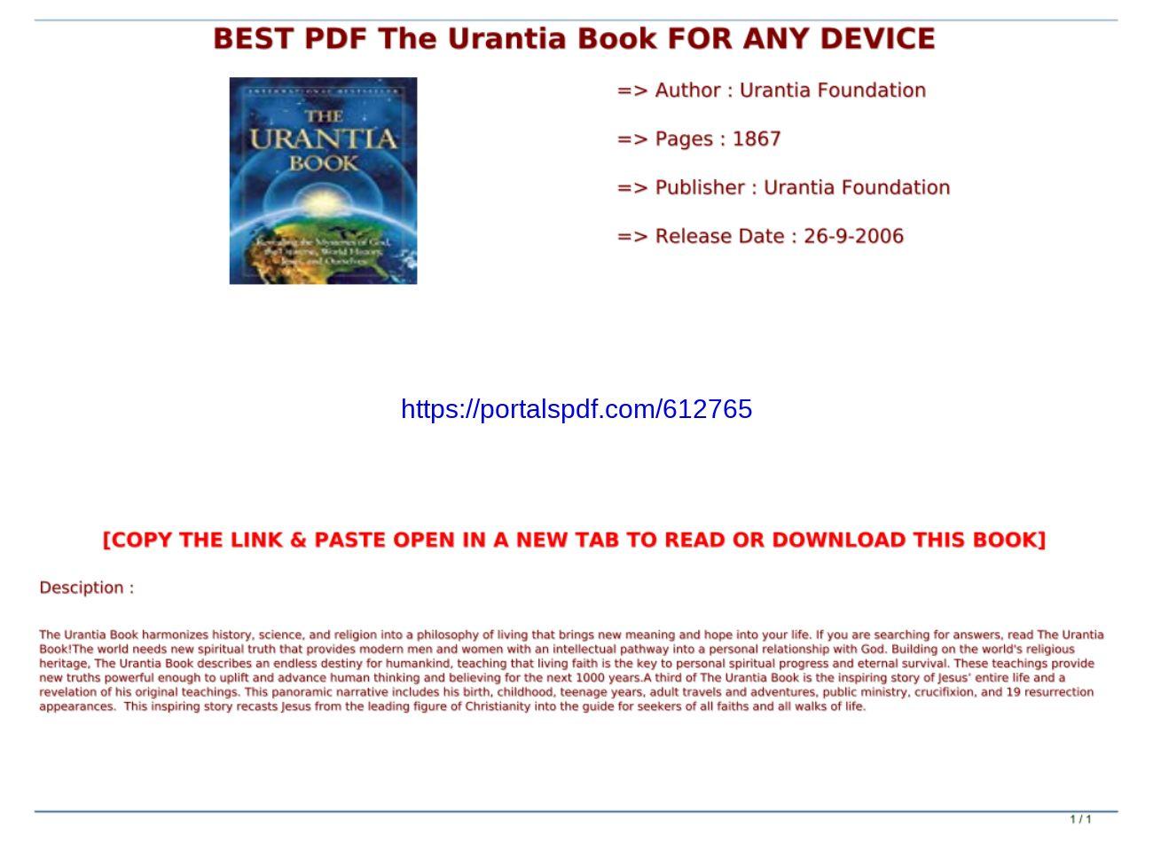 Urantia Book Pdf
