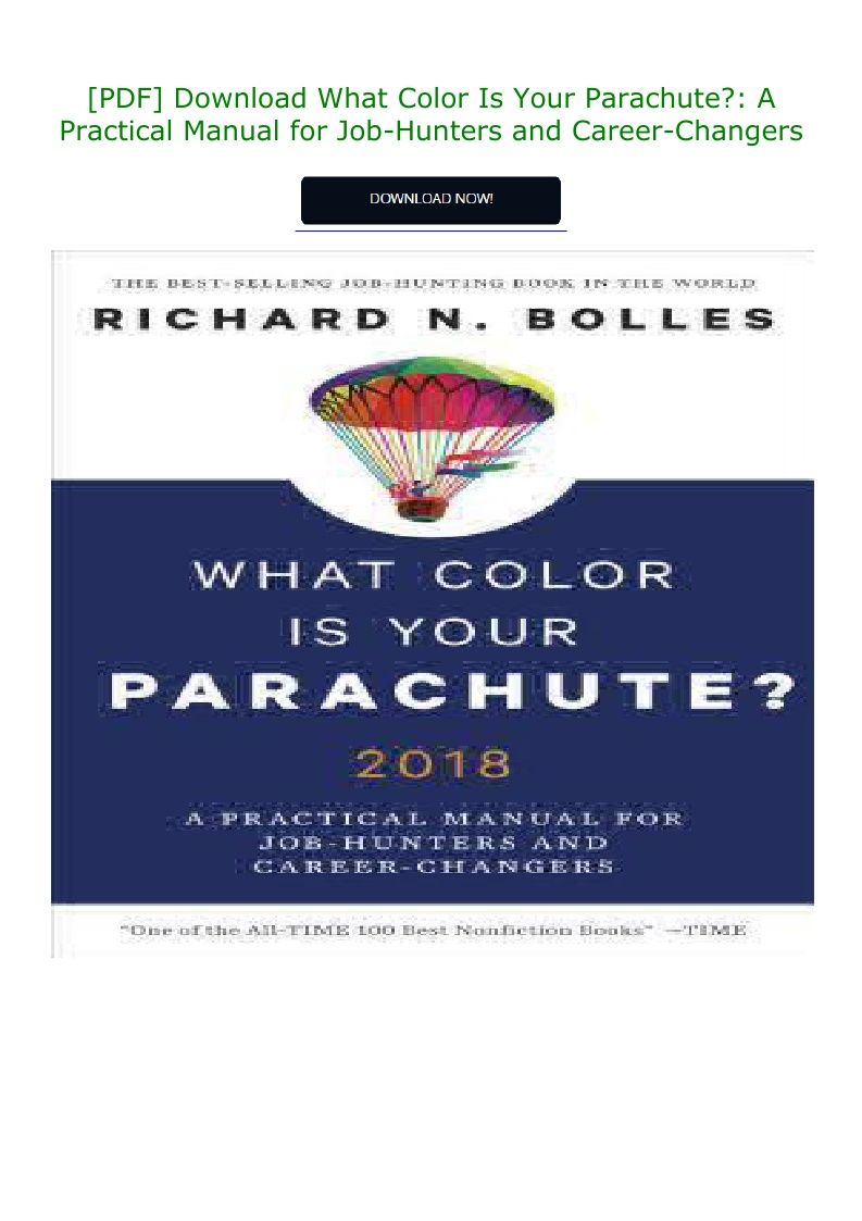 What Color Is Your Parachute Pdf