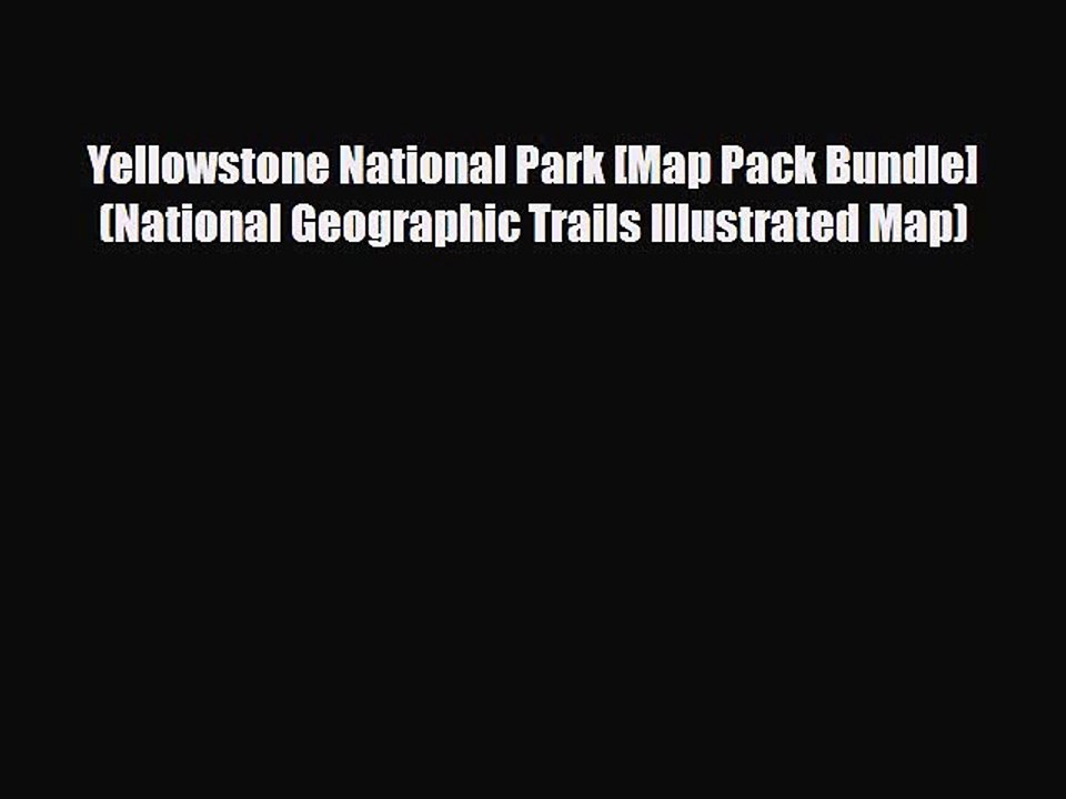Yellowstone National Park Map Pdf