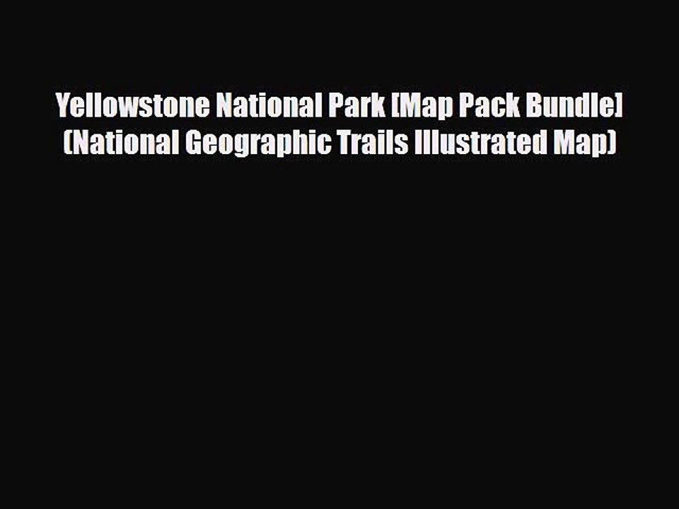 Yellowstone National Park Map Pdf