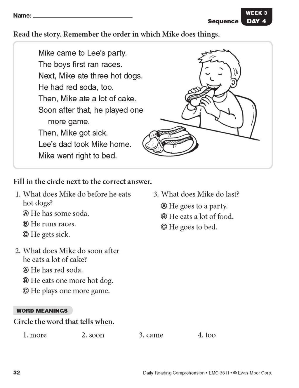 4th Grade Daily Reading Comprehension Grade 4 Pdf