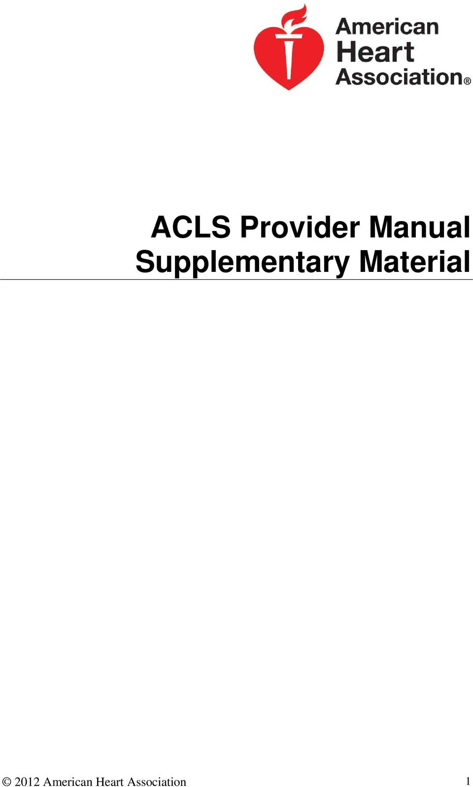 Acls Provider Manual Pdf Download