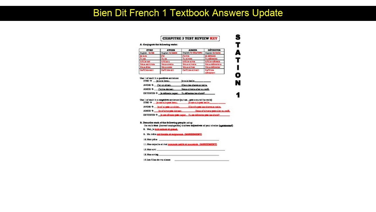 Bien Dit French 2 Online Textbook Pdf