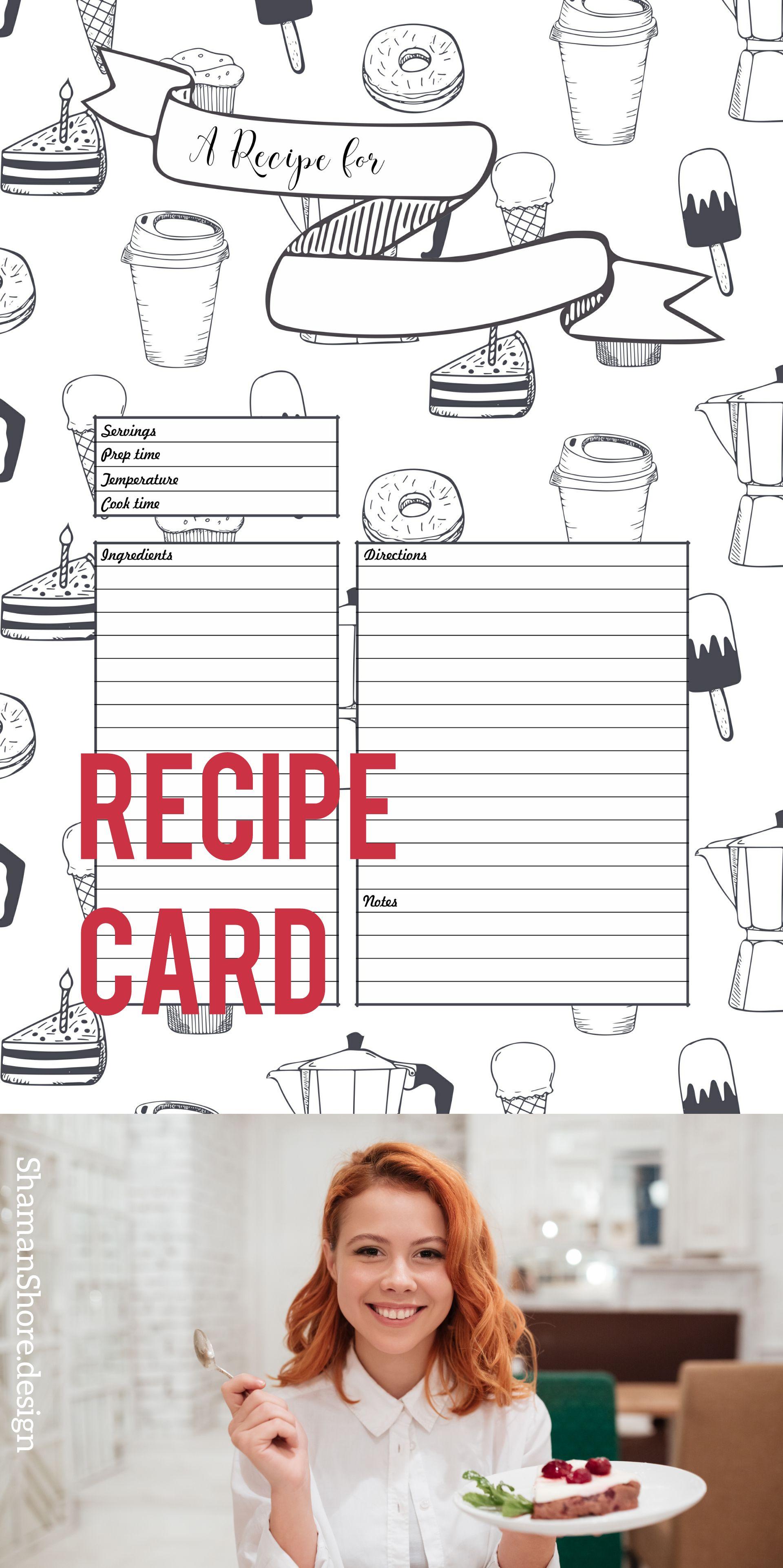 Blank Recipe Template Pdf